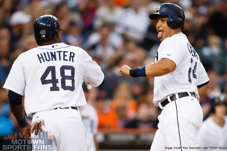 Miguel Cabrera and Torii Hunter