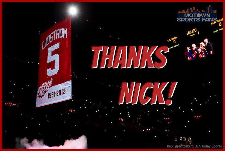 Nicklas Lidstrom Jersey Retired Detroit Red Wings