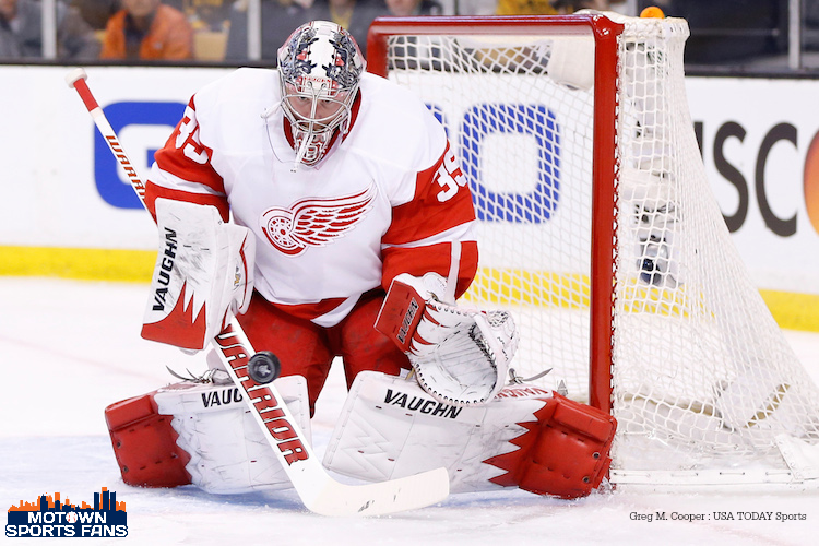 Jimmy Howard Red Wings Bruins 2014 Playoffs