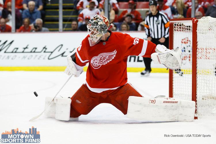 Jonas Gustavsson will start game 5 Detroit Red Wings Boston Bruins 2014 playoffs