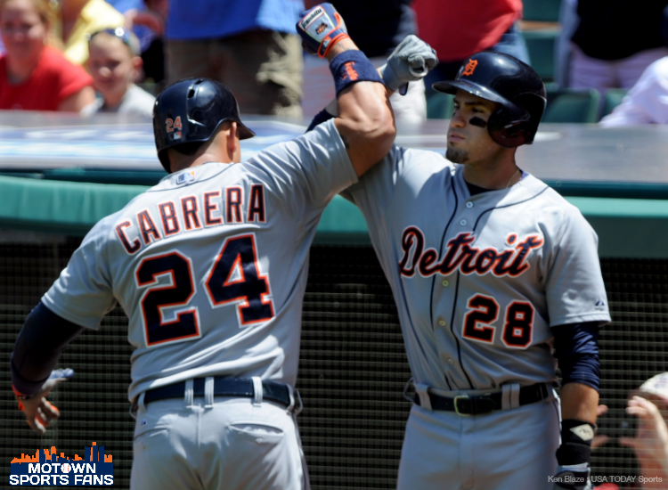 tigers back on track sweep cleveland 2014