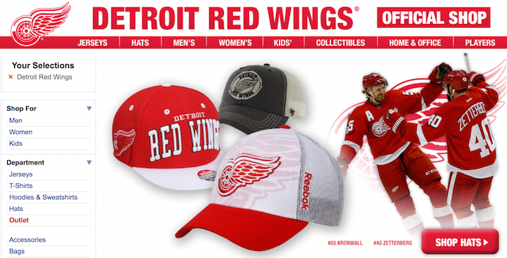 detroit red wings cyber monday deals